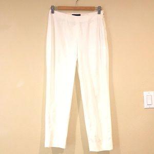 Women's piazza sempione white cropped pants M